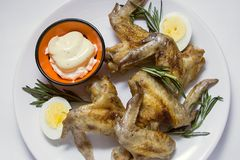 Stuffed Chicken wings with rosemary Royalty Free Stock Photo