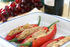 Stuffed chilies Stock Images