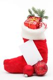 Stuffed Christmas stocking Royalty Free Stock Image