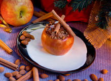 Stuffed cinnamon apple Stock Photography