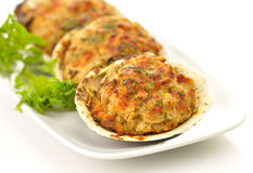 Stuffed clams Stock Photography