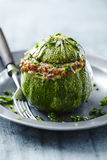 Stuffed courgette Royalty Free Stock Images