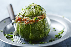 Stuffed courgette Stock Images