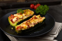 Stuffed courgettes Royalty Free Stock Image