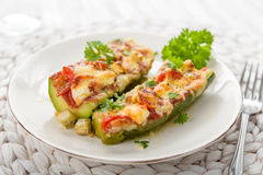 Stuffed courgettes Royalty Free Stock Images