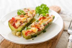 Stuffed courgettes Stock Images
