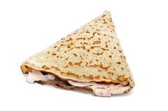 Stuffed crepe Royalty Free Stock Image