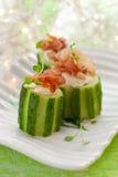 Stuffed cucumber royalty free stock photo