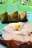 Stuffed dough pyramid Royalty Free Stock Photography