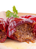 Stuffed dry peppers Stock Image