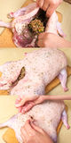 Stuffed duck preparation Stock Photography