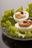 Stuffed egg hors d'oevres Royalty Free Stock Images