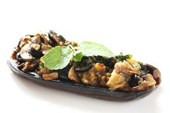 Stuffed eggplant Stock Photo
