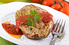 Stuffed eggplant. Stock Photo