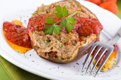 Stuffed eggplant. Royalty Free Stock Photos