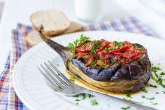 Stuffed eggplant Stock Image