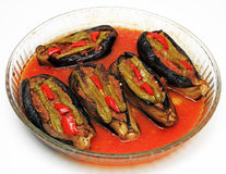 Stuffed eggplant Royalty Free Stock Photos