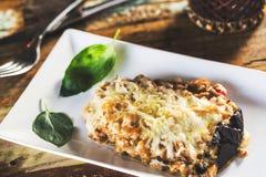 Stuffed eggplant Stock Images