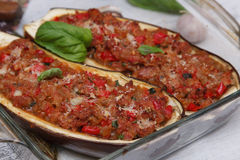 Stuffed Eggplant Royalty Free Stock Photography