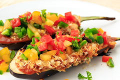 Stuffed eggplant food for vegetarian Stock Photography