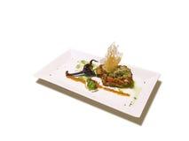 Stuffed eggplant with garnish Stock Images