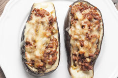 Stuffed eggplant Royalty Free Stock Images