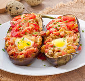 Stuffed Eggplant oven baked Royalty Free Stock Images