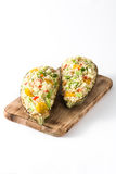 Stuffed eggplant with quinoa and vegetables, isolated Stock Photos
