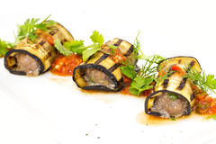 Stuffed eggplant Stock Images