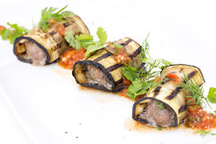 Stuffed eggplant Stock Photos