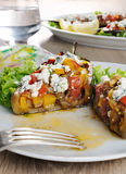 Stuffed eggplant with vegetables Royalty Free Stock Image