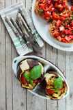 Stuffed Eggplants Stock Photography