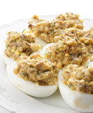 Stuffed eggs Stock Image