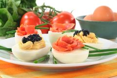 Stuffed eggs Royalty Free Stock Photography
