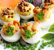 Stuffed eggs Stock Photo