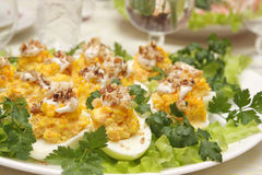 Stuffed eggs Royalty Free Stock Photos