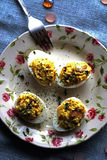 Stuffed eggs Royalty Free Stock Image