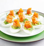 Stuffed eggs. Royalty Free Stock Photo