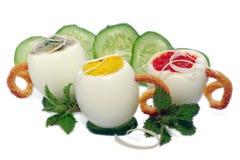 Stuffed Eggs Isolated Royalty Free Stock Photos