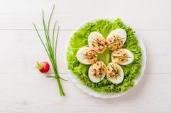 Stuffed eggs Royalty Free Stock Photos
