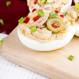 Stuffed eggs with tuna Royalty Free Stock Photo