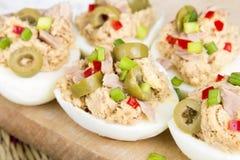 Stuffed eggs with tuna Royalty Free Stock Image