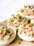 Stuffed eggs with tuna Stock Photography