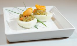 Stuffed eggs Royalty Free Stock Images