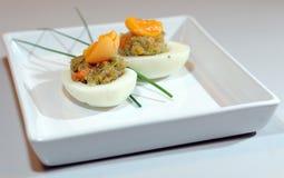 Stuffed eggs Stock Images
