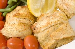Stuffed fillet of sole Royalty Free Stock Photos