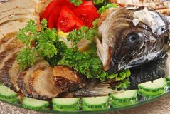 Stuffed fish with head Royalty Free Stock Image