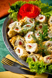 Stuffed fish rolls dish Stock Images