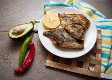 Stuffed flatfish Stock Photo