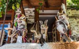 Stuffed fox and rabbit Stock Photography